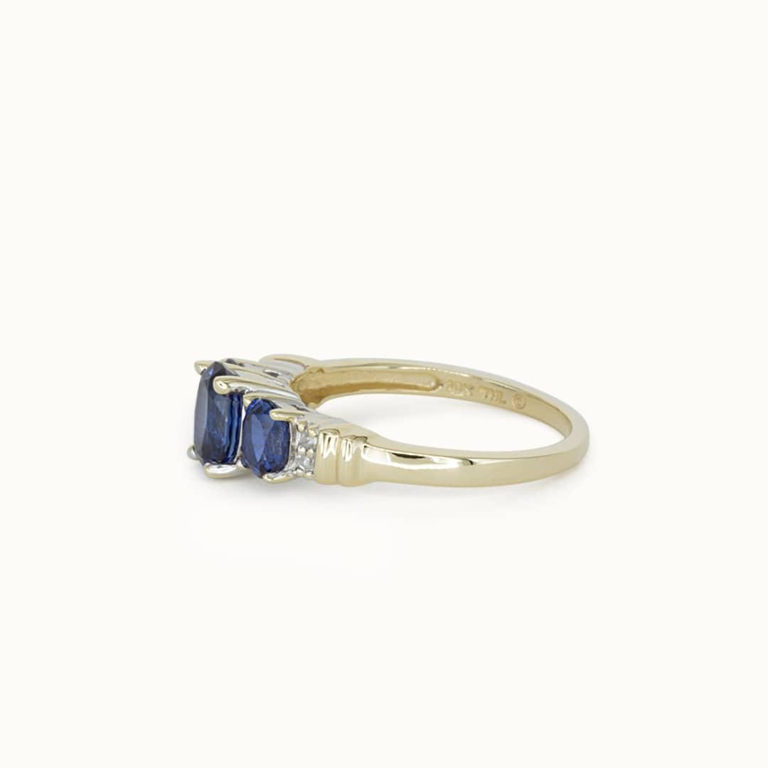 Sally | 10K Sapphire & Diamond