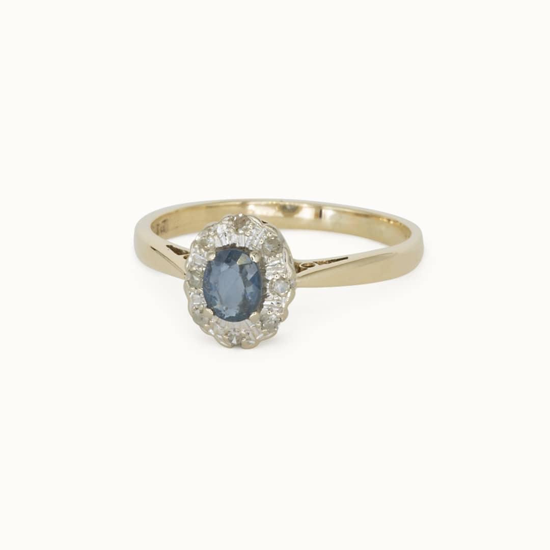 Simone | 9K Sapphire & Diamond