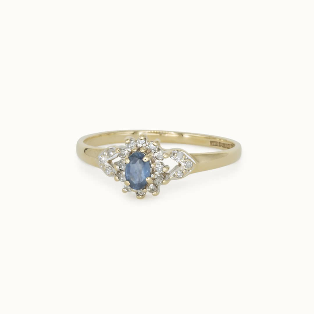 Irene   9K Sapphire & Diamond