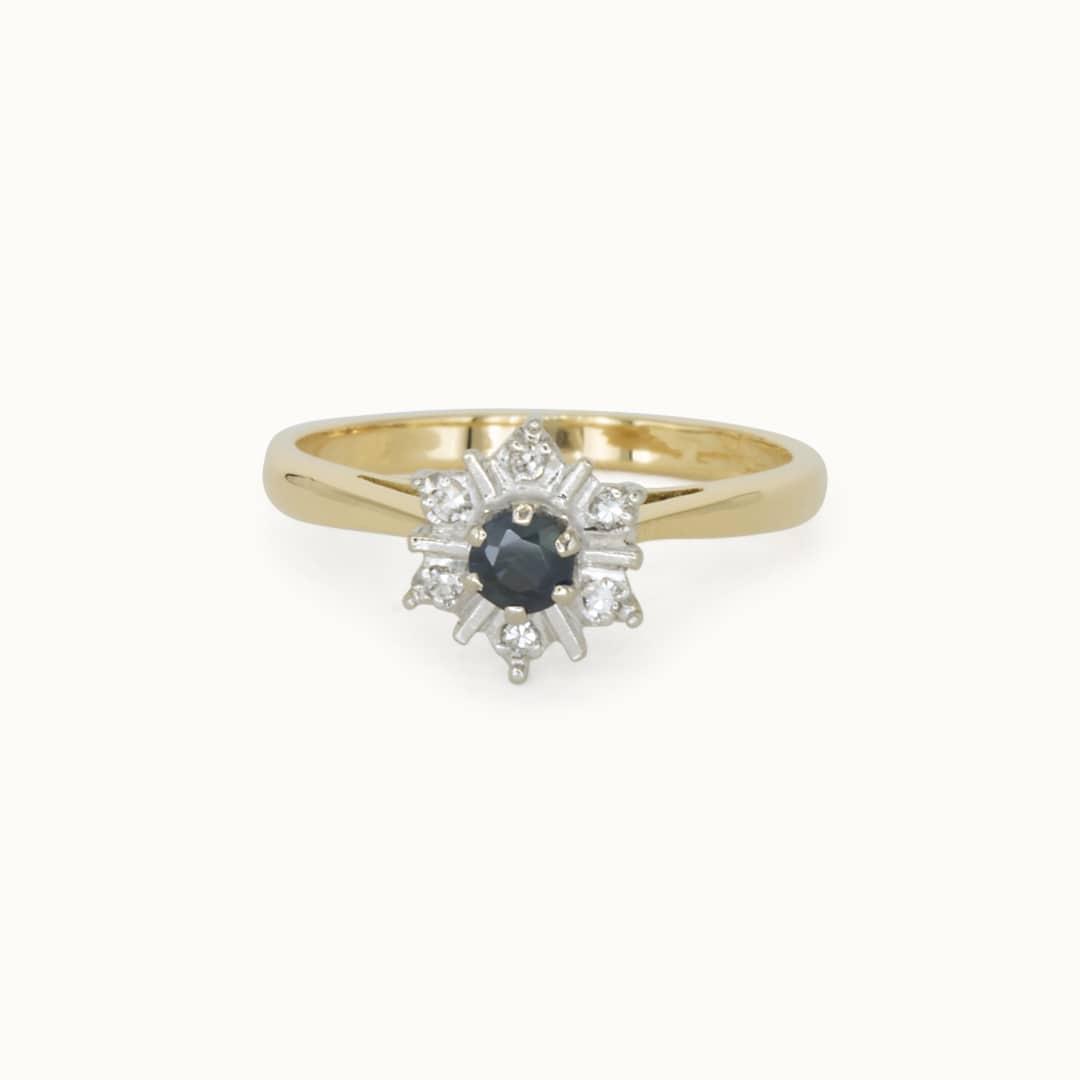 Daisy | 18K Sapphire & Diamond